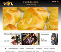 Webpage template  made for www.qualityproducts.se